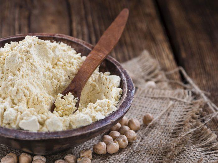 Plant protein chickpea flour