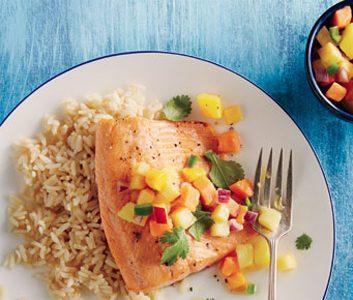Fish with Salsa Fruta