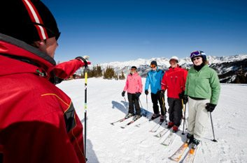 skiing lesson
