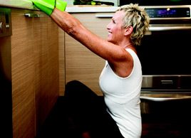 Yoga pose of the month: Stretch hips and lower back with squats at the sink