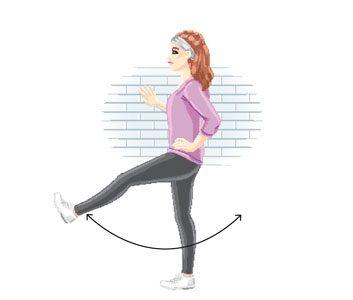 Dynamic stretching: Try forward leg swing