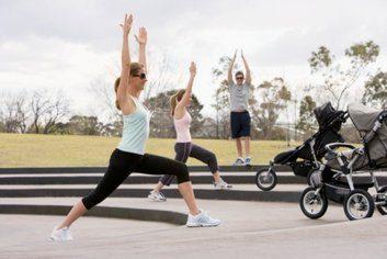 stroller exercise new mom baby