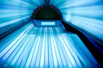 tanning bed empty
