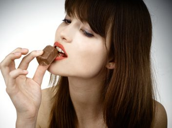 taste chocolate woman