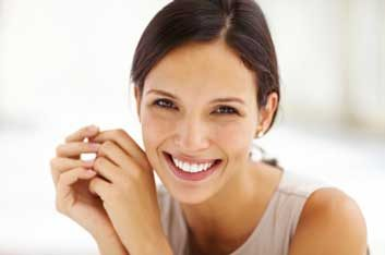 woman with a healthy smile
