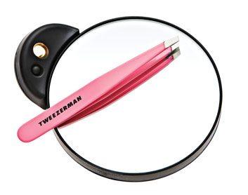 Tweezerman Professional TweezerMate Lighted Mirror and Slant Tweezer
