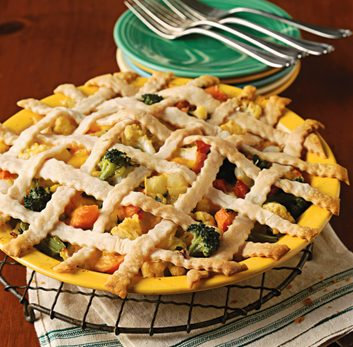 healthy vegetarian pot pie recipe