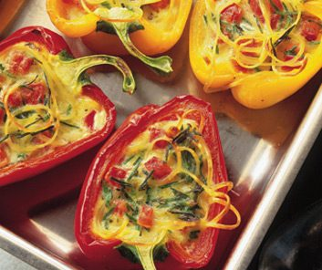 cheese baked peppers
