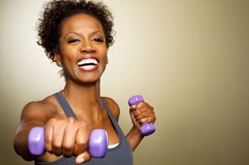 weights fitness woman