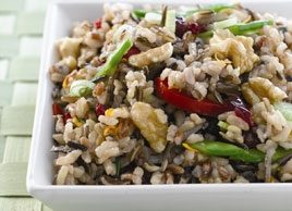 Brown and Wild Rice, Walnut and Dried Cranberry Salad