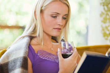 wine reading relax