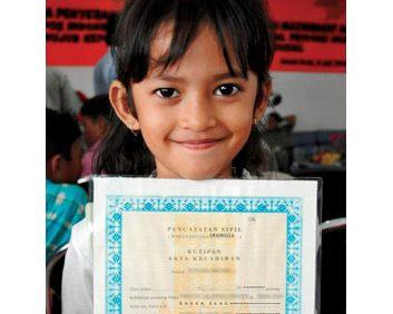 3. World Vision Birth Registration for a Community