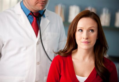 worried patient with doctor