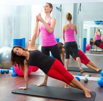 yoga pilates stretch class