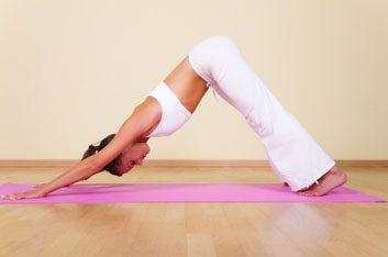 yoga pose downward dog