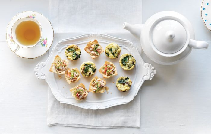 Mushroom and Swiss Cheese Mini Quiches