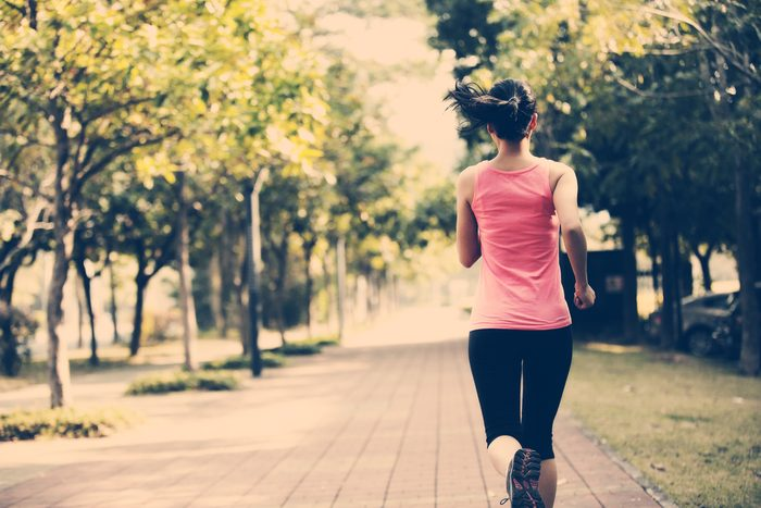 Weight loss myths woman running
