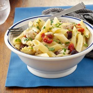 greek-chicken-pasta