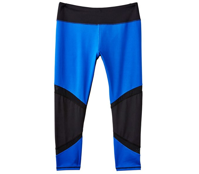 Blue and Black Running Capri, $30
