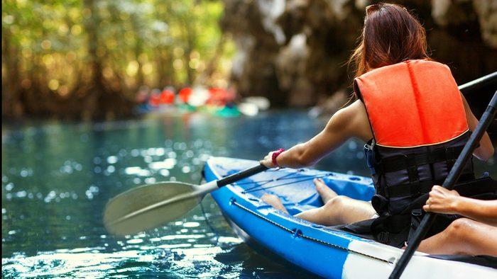 Woman-Kayaking