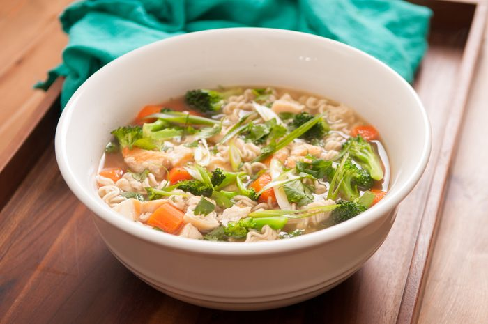 stay healthy during the holidays - bowl of soup
