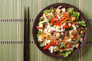 Chinese Cabbage and Peanut Salad with Ginger Dressing