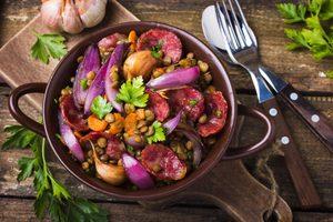 Lentil and Sausage Salad