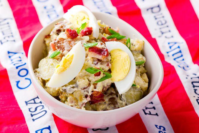 Potato Egg Bacon Salad   egg recipes
