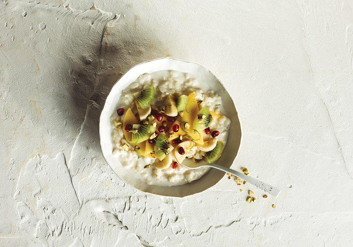 creamy rice breakfast bowl quick and easy breakfast ideas | healthy breakfast