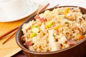 Stir-Fried Rice and Chicken