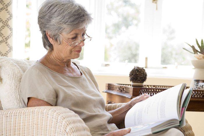 Older woman reading