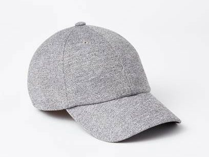 Roots Baseball Cap in Salt and Pepper French Terry