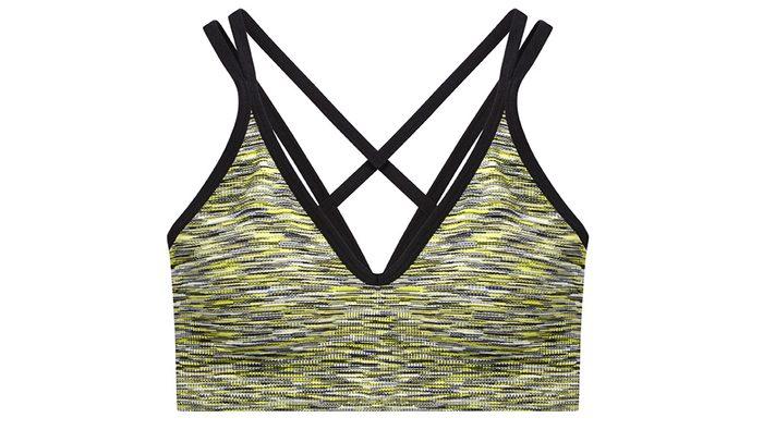 fashionable hiking sports bra
