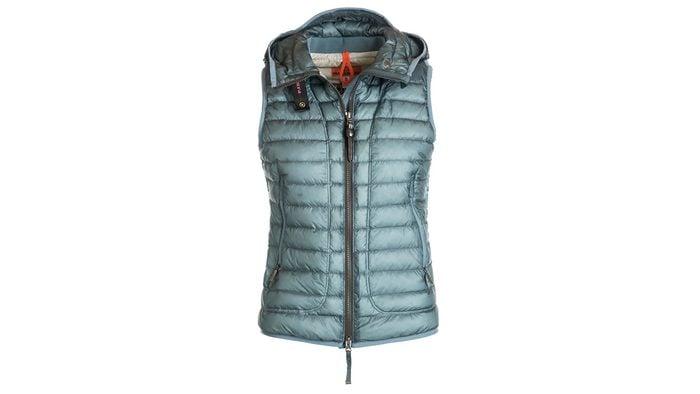 fashionable hiking puffy vest