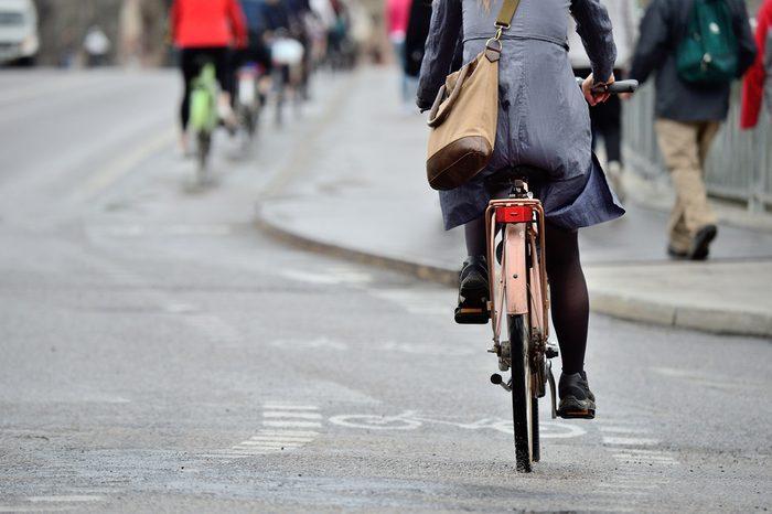 woman biking to work_Easy Eco-Habits