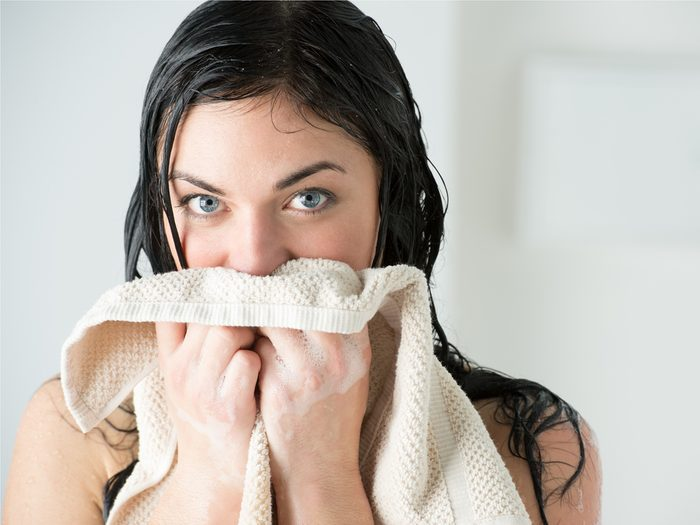 You can get away with showering less if towel drying is taking a toll on your skin