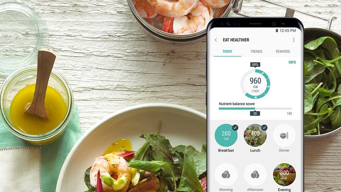 Fit Gift Samsung phone with healthy apps