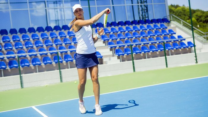 how to deal with juries, woman playing tennis
