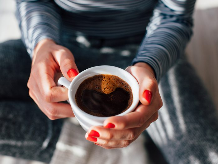 Cut down on caffeine to flatten your stomach