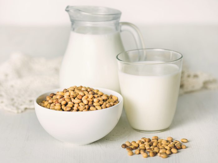 Switching out processed soy can help reduce bloating