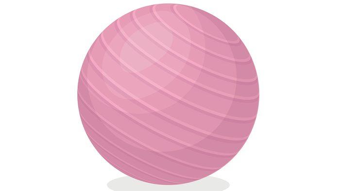 Why am I spotting exercise ball illustration