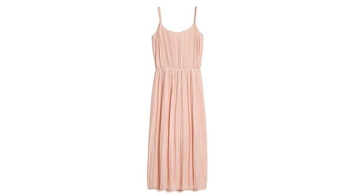 how to wear millennial pink, Gap pleated dress