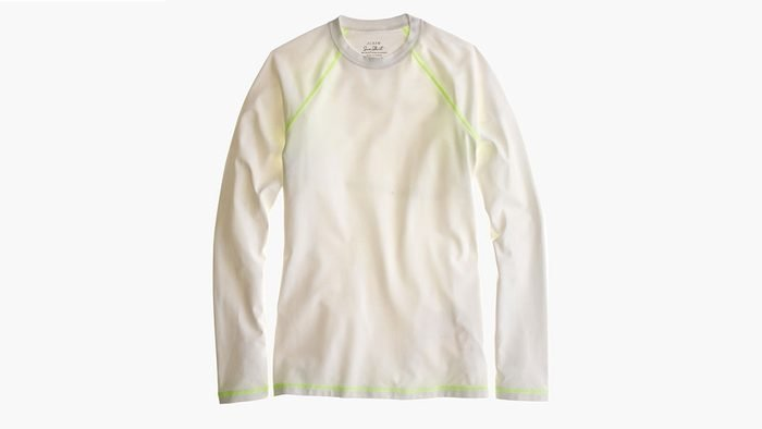 summer layering UPF, a sun protected crew neck top