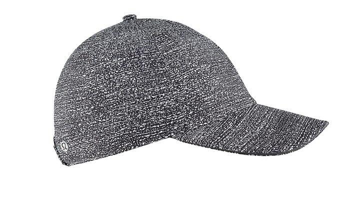 summer layering baseball hat, fashionable heather grey running hat