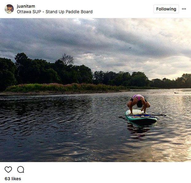 Instagram yoga, ottawa SUP yoga