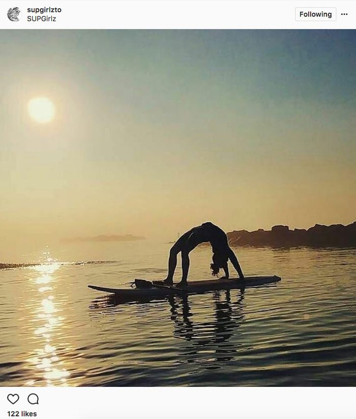 instagram yoga, sup yoga in Toronto