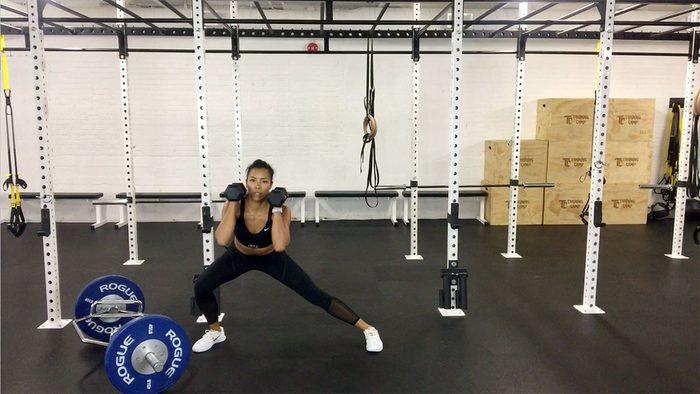 workout for runners, side lunges