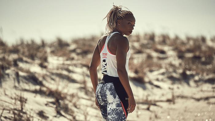 Olympian Natasha Hastings unique style