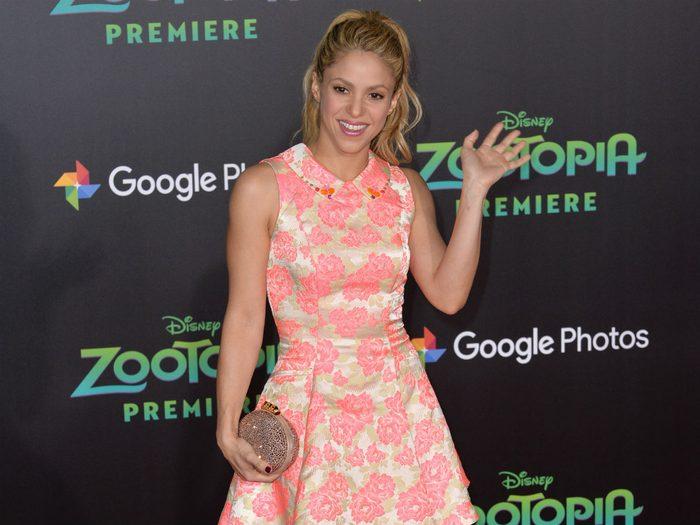 Shakira stays fit