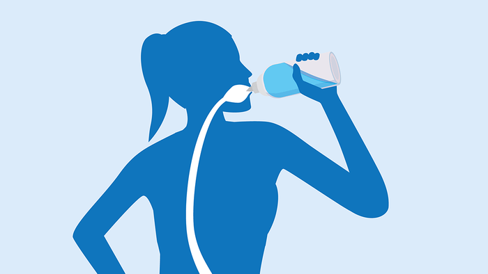 improve diabetes drinking water, illustration of a woman drinking water